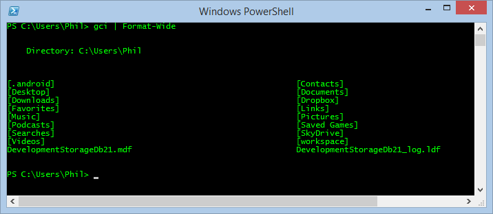 Image of PowerShell Dark Theme